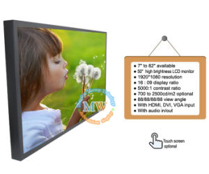 "High Brightness 50"" LCD Monitor with HDMI DVI VGA Connector (MW-501MBH) pictures & photos"