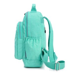 Ladies Waterproof Wrinkled Nylon Laptop Computer Shoulder Backpack School Bag pictures & photos