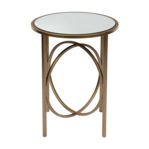 Gl Top Small Round Side Table