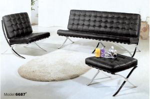 Modern Barcel Mies Van Living Room Popular Quality Sofa Cowhide Full  Leather Barcelona Chair