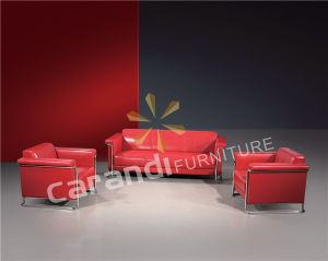 Combination Red Leather Office Sofa Chair (RD894)