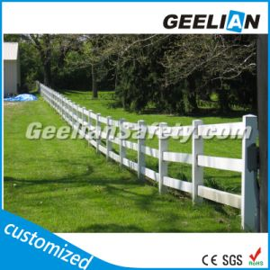 White Color Use Plastic Rural Post and Rail Fence