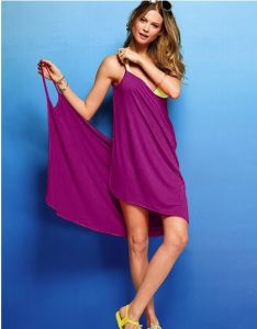 Newest Fashion Beach Party Sexy V Swimwear Cotton Smooth Bikini Cover up Shirt Beach Dress