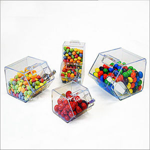 Plastic Candy Containers/Plexiglass Candy Dispenser With Scoop (BTR K4037)