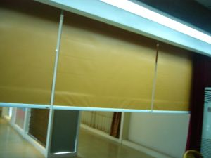 Yellow Electric Fabric Roller Blind, Motorized Roller Shades pictures & photos