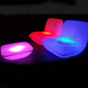 LED Pillow Table and Chairs Lounge Sofa with Remote Control pictures & photos
