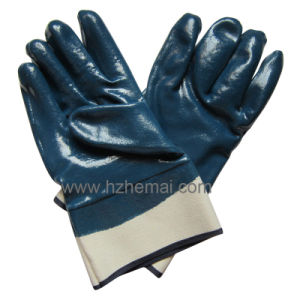 Heavy Duty Fullly Nitrile Coated Gloves Safety Industrial Work Glove pictures & photos