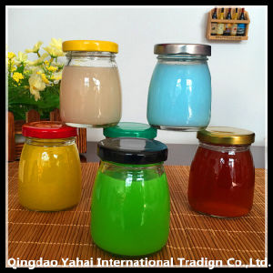 Mini Pudding Glass Bottle with Metal Lid / Cubilose Jar pictures & photos