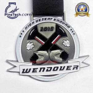 Promotional Die Cast Medal with Silk Screen Ribbon
