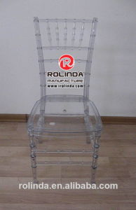Restaurant Chairs Used for Banquet Clear Resin Chiavari Chair with Cushion pictures & photos
