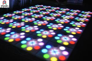 Color Changeable Emitting Flower Effect LED Panel Floor pictures & photos