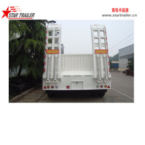 3axles Lowbed Semi Trailer with Detachable Sidewalls pictures & photos