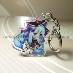 Custom Anime Clear Acrylic Keychains with Double Sided Printing