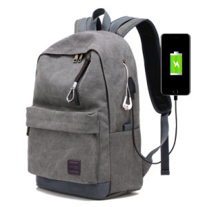 China Casual Style Canvas Laptop Computer Bag Cute Backpacks School