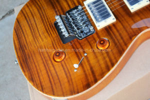 Hanhai Brown Prs Style Electric Guitar with Flame Maple Veneer pictures & photos