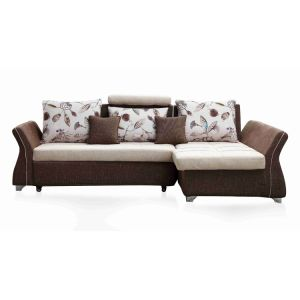 China Modern Design L Shaped Fabric Sofa with Big Storage - China ...