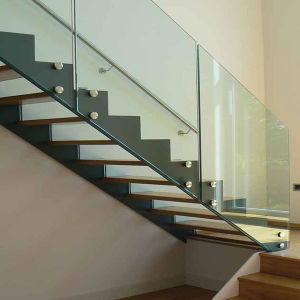 Indoor Modern Oak Wooden Floating Staircase pictures & photos