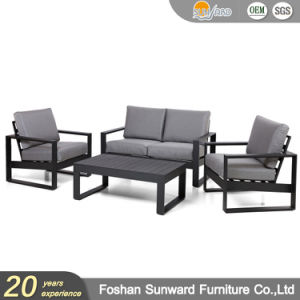 Wholsale Hot Sale Modern Us Style Customized Garden Patio Hotel Home Resort Villa Project Living Room Leisure Aluminum Outdoor Sofa Furniture Set