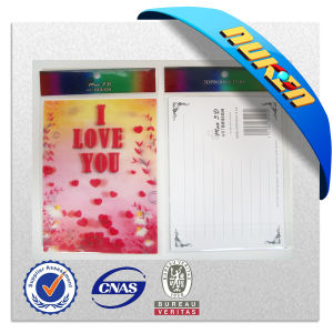 Romantic 3D Lenticular Love Post Card for Valentine′s Day
