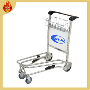 4 Wheels Stainless Steel Airport Baggage Cart for Sale pictures & photos