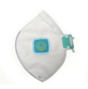 Anti-Ebola N95 Valved Particulate Flat Fold Respirator pictures & photos