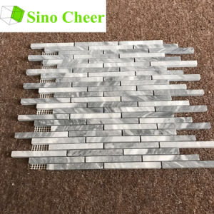 Stone Strip Grey Carrara Marble Mosaic Tile pictures & photos