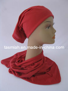 Cotton Blend Two Pieces Muslim Hijab Tudung Scarves Stock Item-163