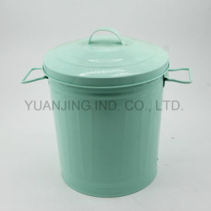 Metal Household Rubbish Bin Storage Can Container with Lid Powder Coating