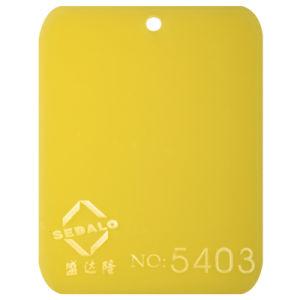Good Material Yellow Cast Acrylic Sheet (SDL-5403)