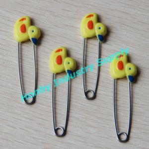 china 55mm plastic duck head stainless steel baby diaper safety pins