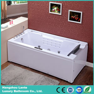 Single Person Rectangle Acrylic Massage Bathtub with Pillow (TLP-669) pictures & photos