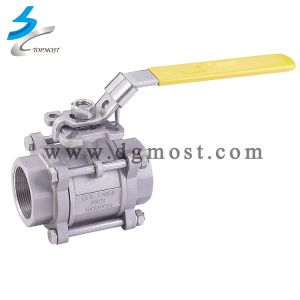 High Pressure Stainless Steel 3PC Control Ball Valve pictures & photos
