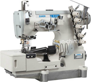 Zuker High Speed Pegasus Flat-Bed Interlock Sewing Machine with Tape Binding with Auto-Trimmer (ZK500-02BB)