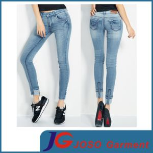 Women MID Rise Skinny Stretch Jean (JC1239) pictures & photos