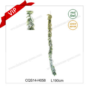 6-7FT Wholesale Christmas Plastic Stockings Artificial Flower Garlands