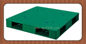 China 1100X1100X150mm Double Flat Plastic Pallet for Transport Manufacturer