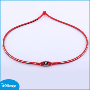 OEM Orange Letter Hot Sale Best Quality Silicone Necklace