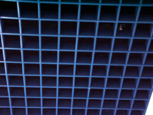 Metal Ceiling. Examples for Aluminum Blue Color Grille Ceiling pictures & photos