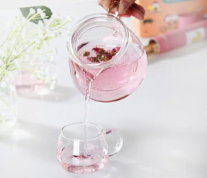 500ml Heat Resistant Glass Teapot with Infuser Coffee Flower Leaf Herbal Tea Pot pictures & photos
