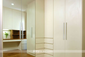 Ritz Home Furniture, White High Gloss Bedroom Furniture Set, Wooden Wardrobe