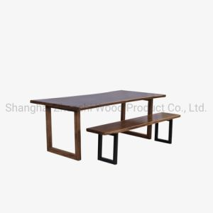 Wood Slab Table Reclaimed Wood Live Edge Slab Table and Bench Set