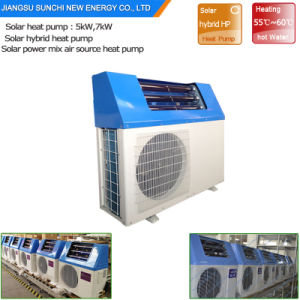 C Dhw 220V Save 80% Power 5kw, 7kw, 9kw High Cop5.32 Air Heat Pump Hybrid Solar  Power Portable Heater