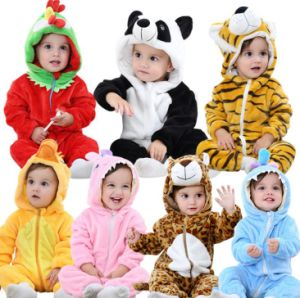 322c203bea Unisex Baby Romper Jumpsuit Winter and Autumn Flannel Costume Animal Outfits