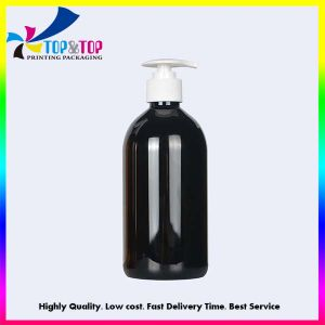 Factory Wholesale 500ml Hand Sanitizer Plastic Cosmetic Pet Clear Bottle with Pump