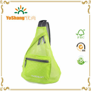 Foldable Mesh Bag Triangle Messenger Bag See Through Unisex Shoulder Crossbody Bag for Shopping Beach Sling Bags pictures & photos