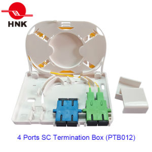 4 Port Sc Fiber Optic Cable Termination Box (PTB012) pictures & photos