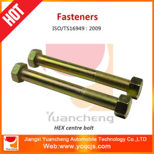 Leaf Spring Parts Hex Center Bolts with Zinc Plate