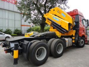 Sinotruk HOWO 6X4 Tractor with Mobile Crane pictures & photos