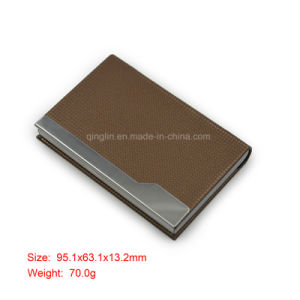 Brown Metal Business Name Card Holder