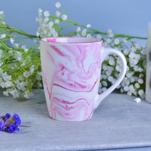 Factory Supplied Marble Finish Ceramic Mug Jars for Candle Making pictures & photos